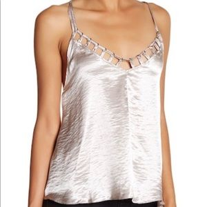 Free People Silver Top